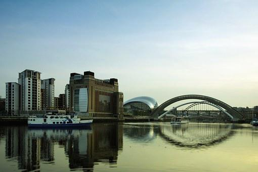 Newcastle, River, Tyne, Baltic, Bridge, Gateshead