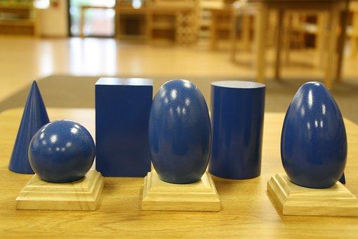 Geometric Solids, Montessori, Shapes, Geometric Shapes