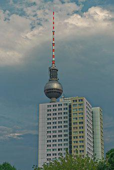 Germany, Berlin, Tv Tower, Hackescher Markt, Landmark