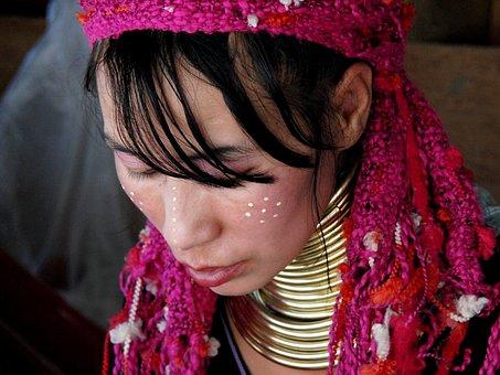 Woman, Girl, Thailand, Burma, Mountain Folk
