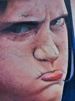 Graffiti, Painting, Girl, Art, Wall, Female, Human