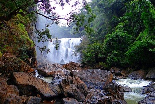 Sathodi Falls, Water Fall, Kali River, Western Ghats
