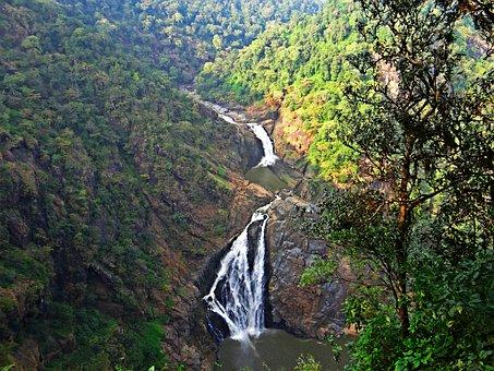 Magod Falls, Western Ghats, Water Fall, Cascades