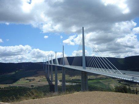Bridge, Millau, Pont Millau