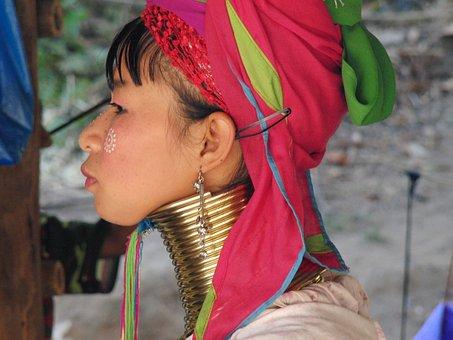 Thailand, Woman, Folklore, Costume, Mountain Tribe