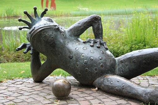 Sculpture, Art, Artwork, Mythical Creatures, Frog