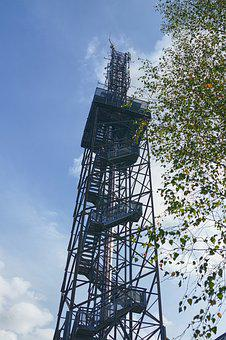 Tower, Radio Tower, Viewpoint, Forest, Showing, Nature