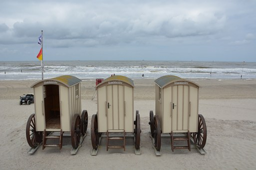 Norderney, North Sea, Beach, Sand, Changing Room