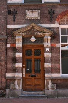 Door, House, Historic Centre, S'hertogenbosch, Facade