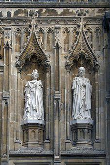Cathedral, Canterbury, Statues, Queen Elisabeth