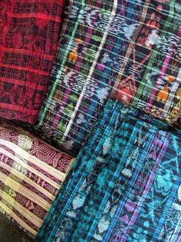 Guatemala, Fabric, Ikat, Design, Cloth, Texture