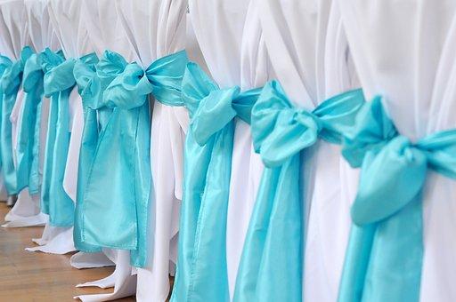 Chair, Turquoise, Wedding, Decoration