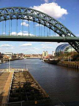 Iron, Bridge, Newcastle, River, Tyne, Urban, Gateshead