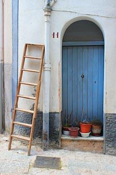 Door, Country, Scale, Blue, White, Maritime Village
