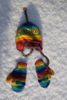 Cap, Gloves, Snow, Winter, Season, Cold, Hat, Clothing
