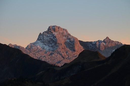 Breakthrough Point, Aravis, Sunset