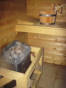 Bench, Cabin, Health, Heat, Hot, Bucket, Humidity
