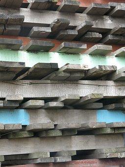 Pallets, Wooden Pallets, Color, Wood, Port, Weathered