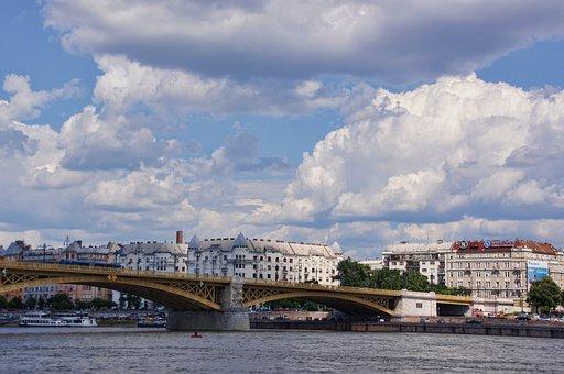 Margaret Bridge, Bridge, Danube Bridge, Budapest, Sky