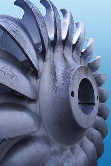 Turbine, Metal, Steel, Electric, Current, Energy