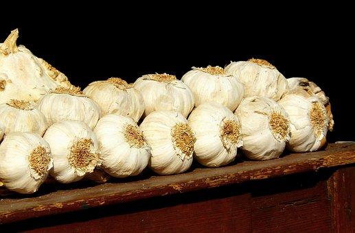 Garlic, Smell, Mediterranean, Food, White, Plant
