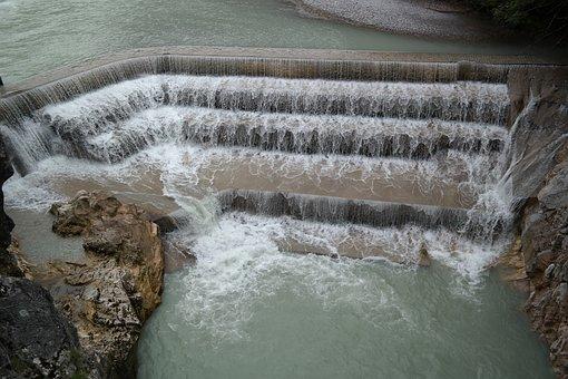 Lechfall, Weir, Waterfall, Water, River, Füssen