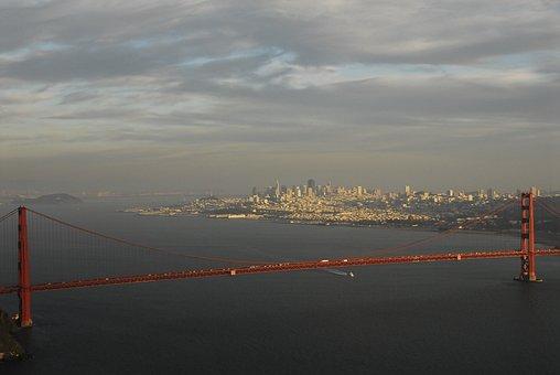 Golden Gate, Bridge, Cal, Golden Gate Bridge, Francisco