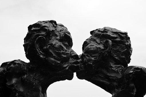 Kiss, Sculpture, Statue, Love, Stone Figure, Harmony