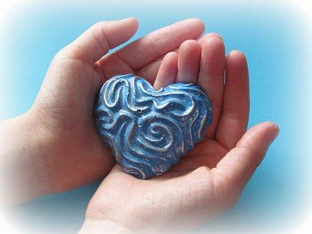 Hands, Heart, Blue, Keep, Symbol, Love, Finger