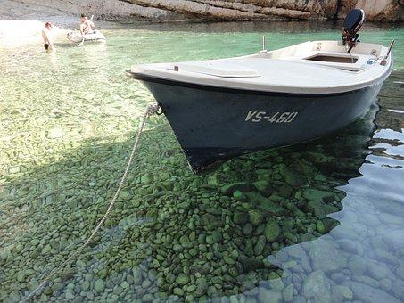Boat, Depths, Sea, Lazur, Croatia