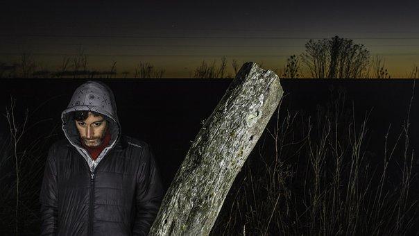 Lighting, Field, Flash, Mar Del Plata, Argentina, Man