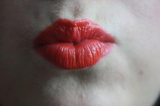 Kiss, Festive, Lipstick, Red, Bold, Orange