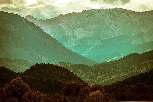 Mountains, Alpine, Wetterstein Mountains