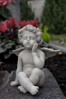 Mourning, Angel, Love, Farewell, Condolences, Cemetery