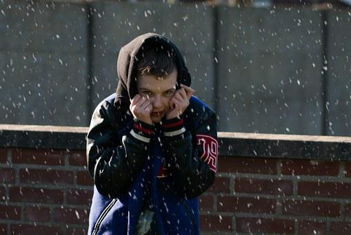 Boy, Snow, Winter, Cold, Youth, Playful, December, Hat