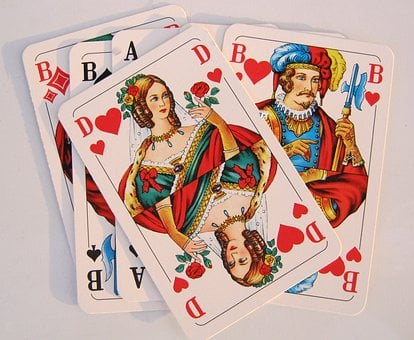Playing Cards, Heart, Lady, Skat, Jack