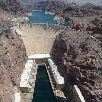 Hoover, Dam, Landmark, Power, Lake, Nevada, Colorado