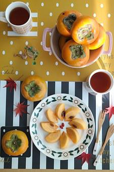 Persimmon, Autumn, Republic Of Korea, Delicious Food