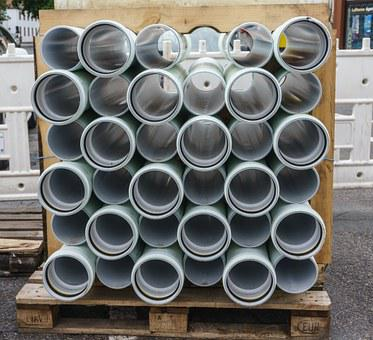 Pipes, Site, Construction Material, Stacked, Pipe