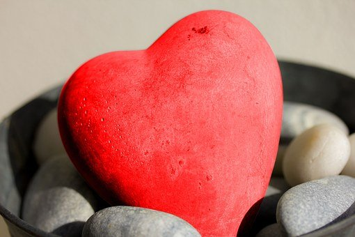 Heart, Stone Heart, Stone, Romantic, Love, Rock