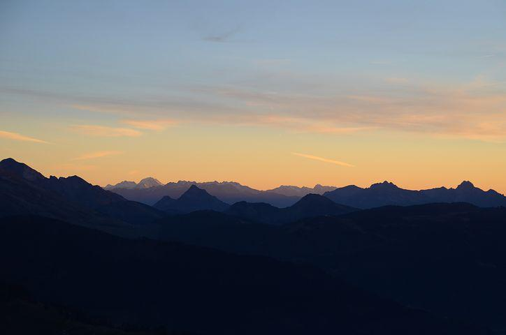 Sunset, Aravis, Nature