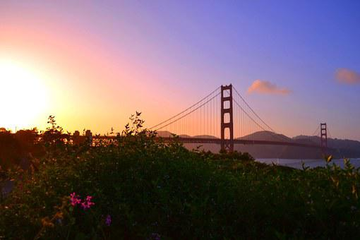Golden Gate, San Francisco, Sunset, Bridge, Park