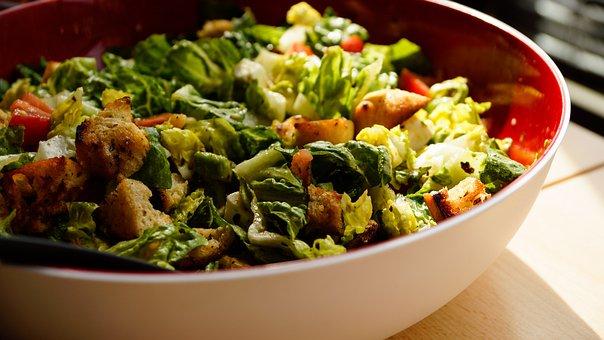 Salad, Bowl, Green, Lettuce, Tomato, Lunch, Dinner