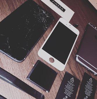 Service, Bateria, Iphone, 6s, 6 Plus, Brocken, Screen