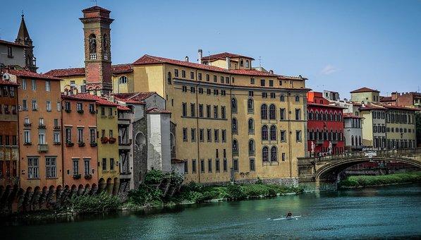 Florence, Italy, Ponte Vecchio, Architecture, Buildings