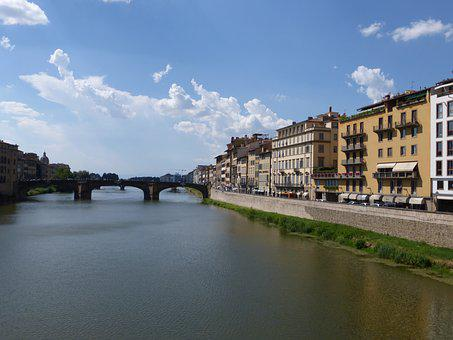 Italy, Florence, River, Rivers, Arno, Bridges