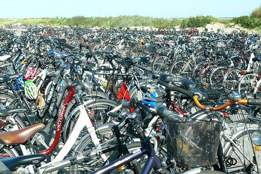 Bicycles, Bike, Parking, Wheel, Cycling, Transport