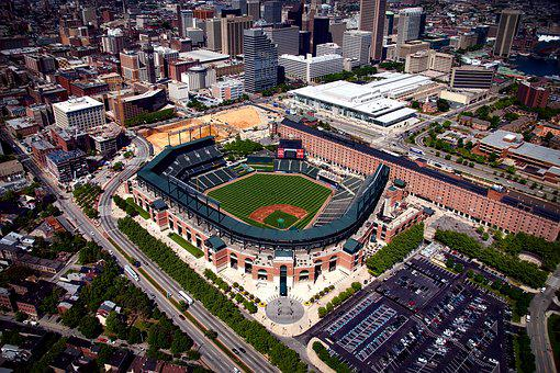 Camden Yards, Baltimore, Maryland, Hdr, Baseball