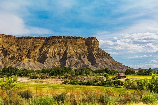 Utah, Farm, Capitol Reef, National Park, Rural, Sky