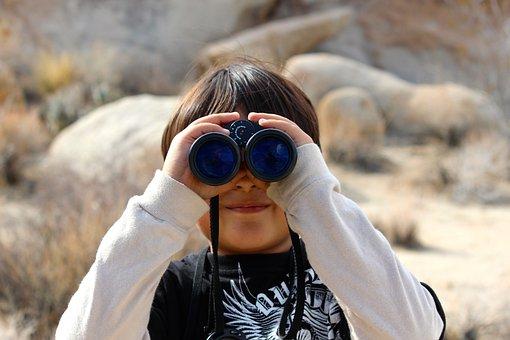 Binoculars, Child, Magnification, Lookout, Look, Binocs